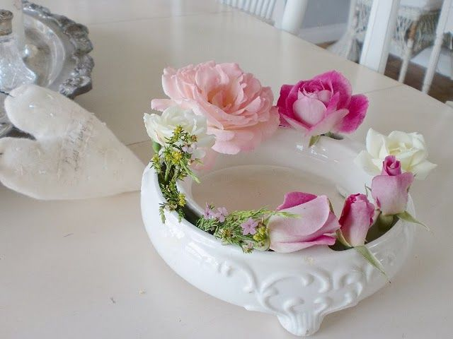 I Want One Of These Floral Rings Vintage German Traditional Vases Pansies