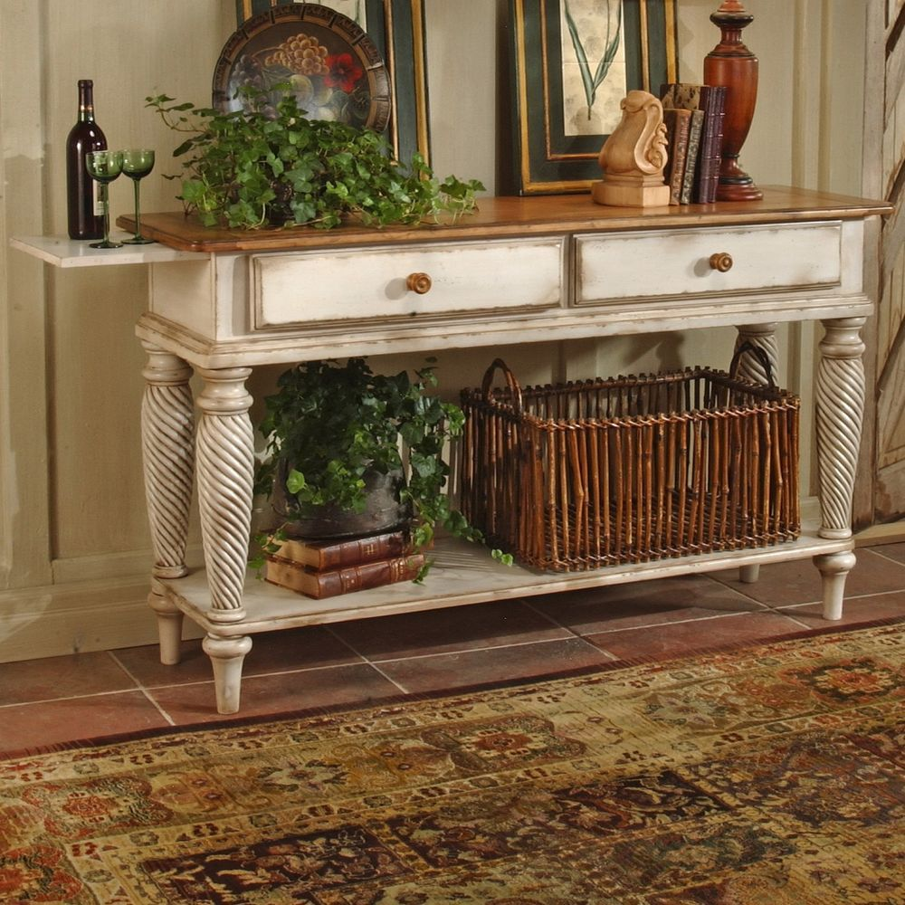 Vintage cottage country style entry hall way accent console table vintage cottage country style entry hall way accent console table cottage geotapseo Gallery