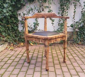 antiker alter stuhl eckstuhl schreibtischstuhl kapit nsstuhl jugendstil top in antiquit ten. Black Bedroom Furniture Sets. Home Design Ideas
