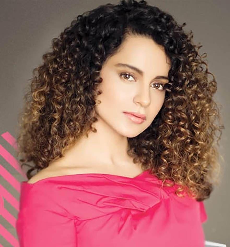 Indian Celebrity Kangana Ranaut Curly Hairstyles New Natural