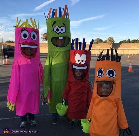 Halloween Herren Wacky Waving Tube Man Fancy Dress Maskenkostüm