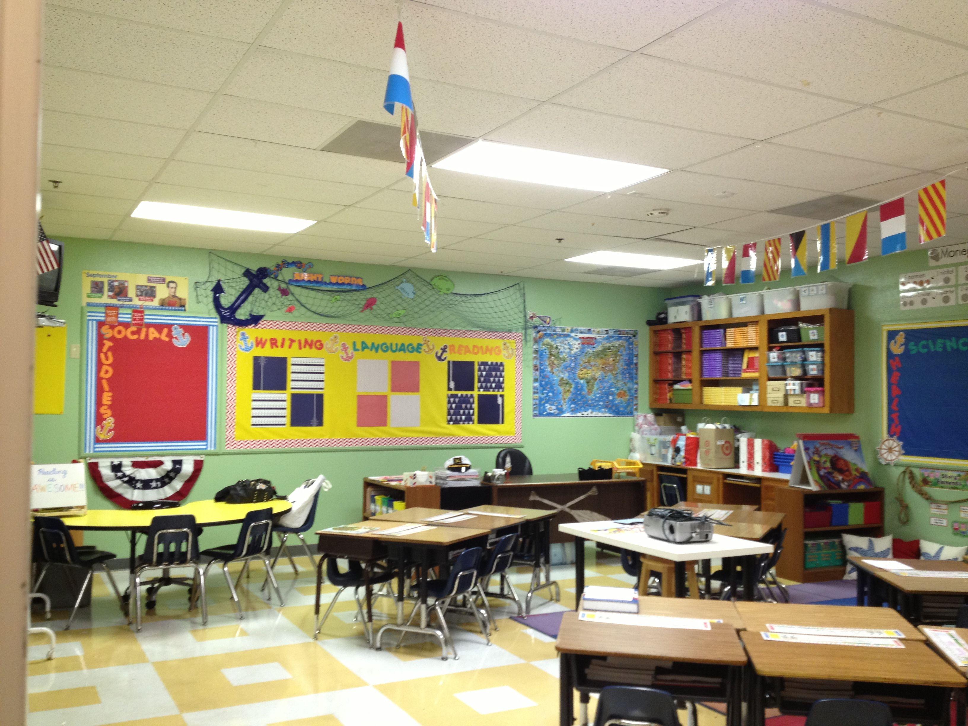 Nautical Classroom 1st Grade