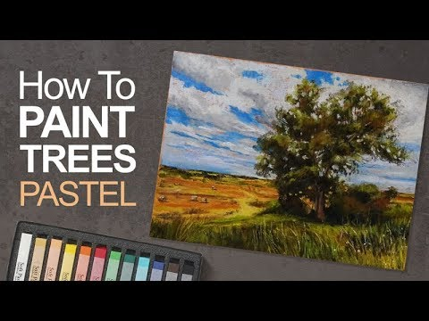 2 How To Paint A Tree With Pastels Youtube Pastel Artwork Pastel Landscape Soft Pastels Drawing