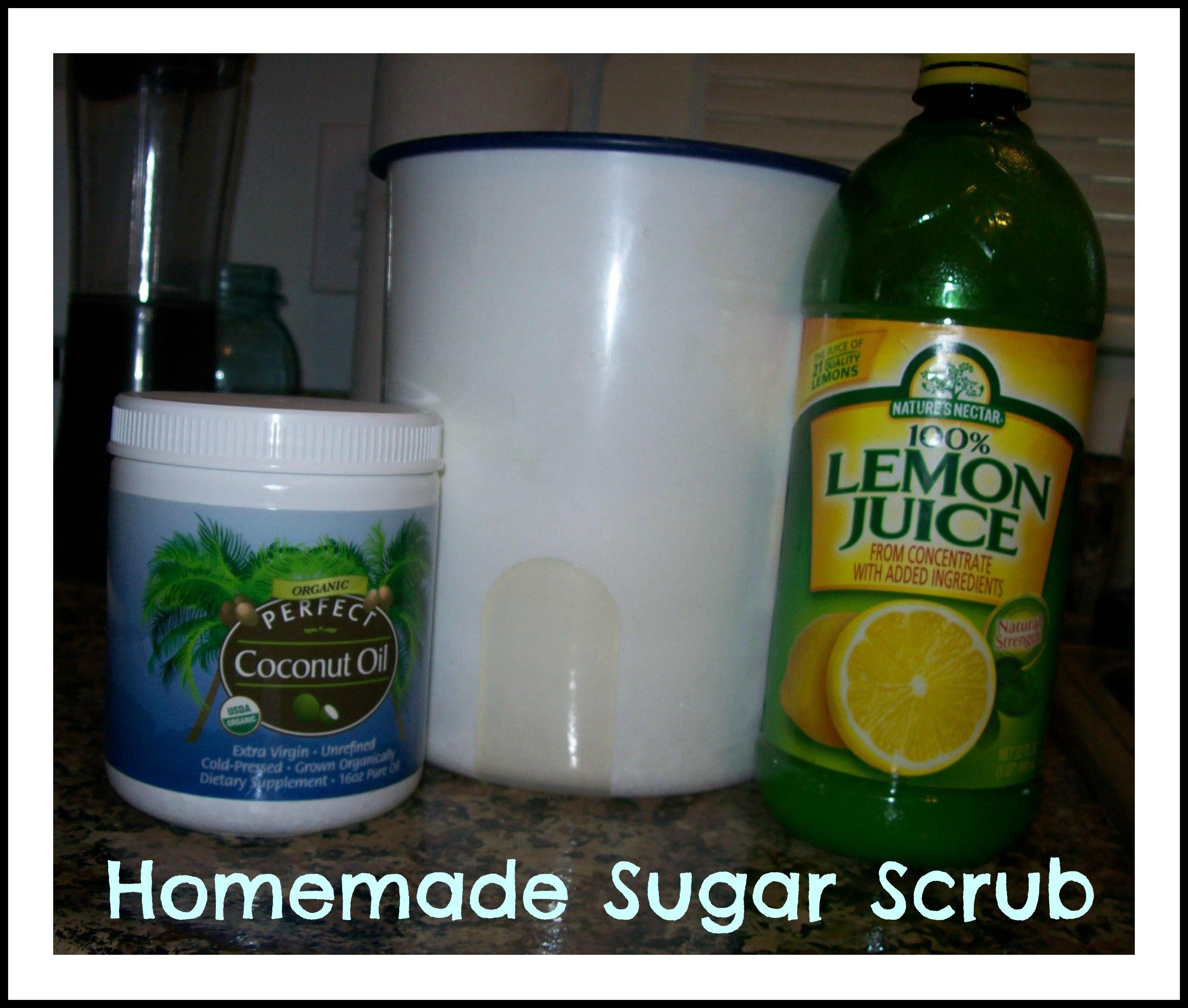 Homemade sugar scrub for smoother silky soft legs sugar
