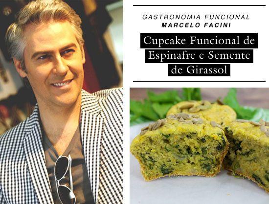 Cupcake Funcional de Espinafre e Semente de girassol | CAROL BUFFARA