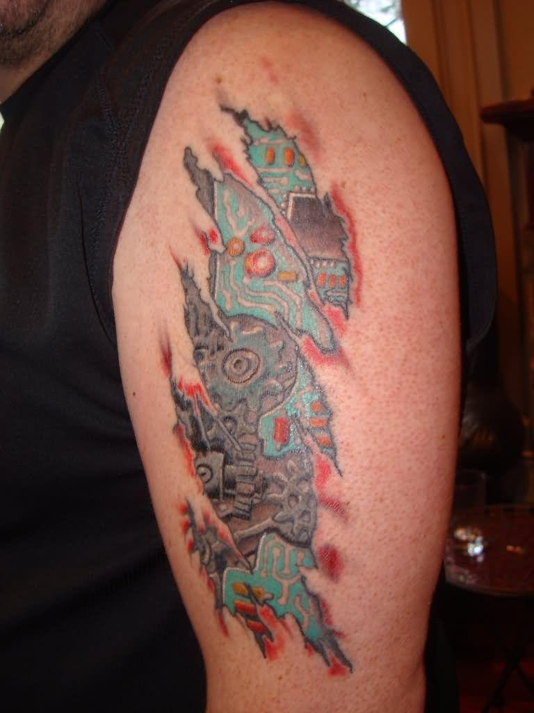 32+ Amazing Circuit board tattoo shoulder ideas in 2021