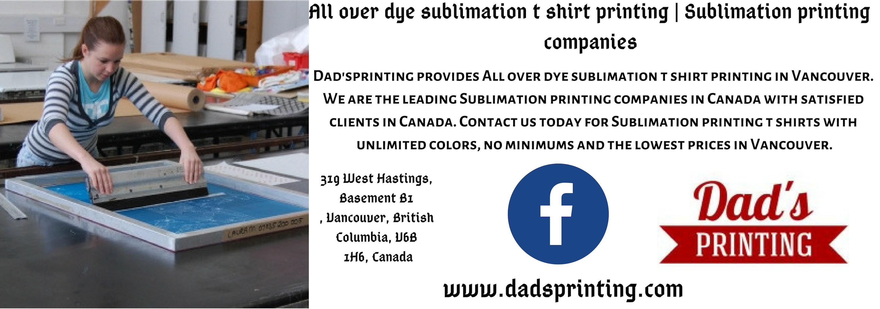 Dad'sprinting provides All over dye sublimation t shirt