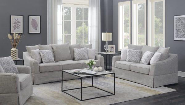 Best E667 Series Modern Sand Beige Living Room Sofa Set 400 x 300