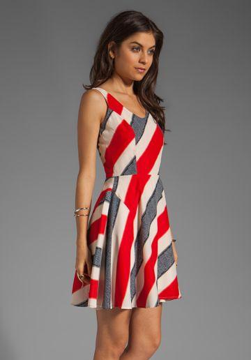 Jack by BB DAKOTA Gwynn Striped River Printed Dress