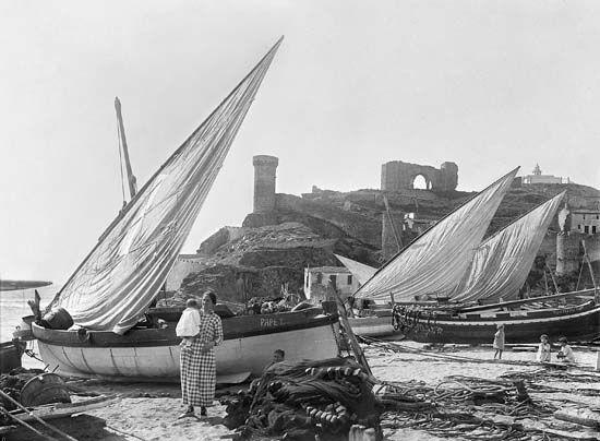 Tossa De Mar Ca 1930 Tossa De Mar Playa Historia De La Fotografia