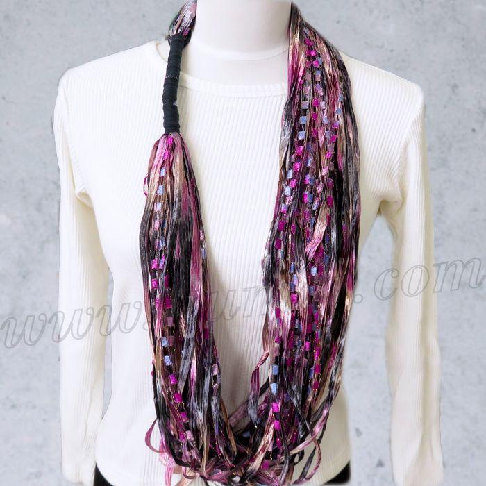 Free Pattern: LOOPS Infinity Scarf | Crochet Ladder Necklace | Pinterest