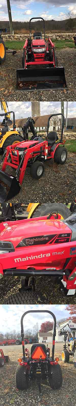 heavy equipment: Mahindra Max 24 Hst 4Wd Tractor With Bucket Loader BUY IT NOW ONLY: $14000.0