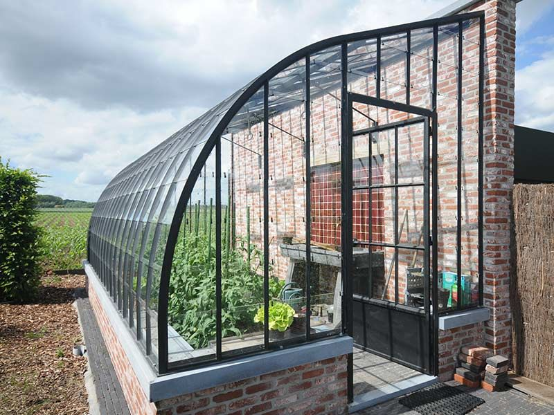 Greenhouse for garden Elegant model with arched wrought