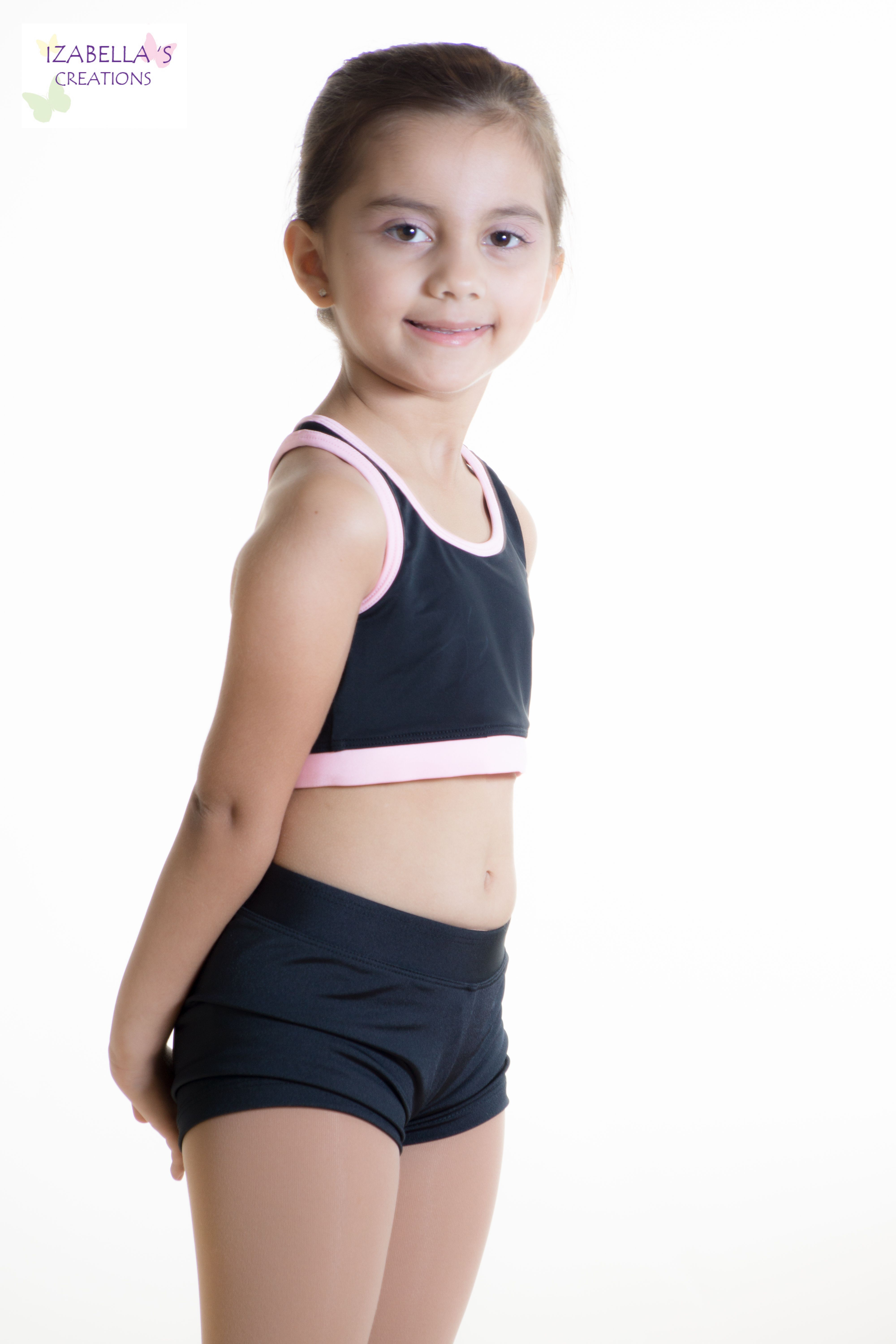 00cfb7ead1 Custom handmade Sports bras with matching booty shorts for your dancer. Many  styles to choose