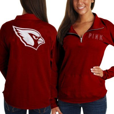 1635dd5f04a5 Victoria s Secret PINK Arizona Cardinals Ladies Half-Zip Sweatshirt - Red