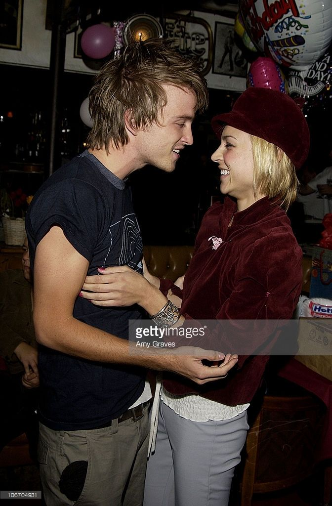 Aaron Paul and Samaire Armstrong during Surprise Birthday