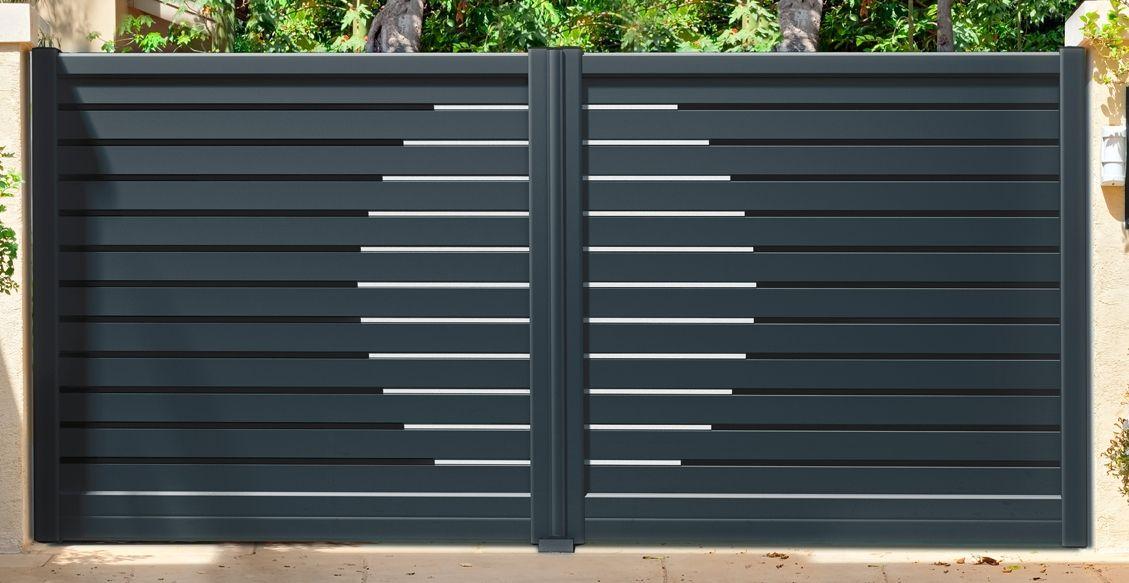 Portail Aluminium sur mesure, Vendôme Fermetures  Portails - Tad - motorisation portail battant ouverture exterieure