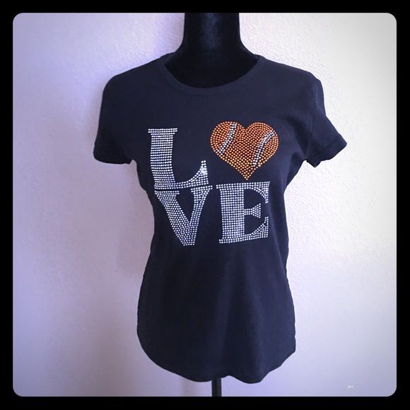 I Love (baseball heart) Shirt SF Giants colors American Apparel Tops Tees - Short Sleeve