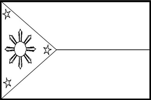 Philippines Flags Coloring Pages For Kids With Images Flag