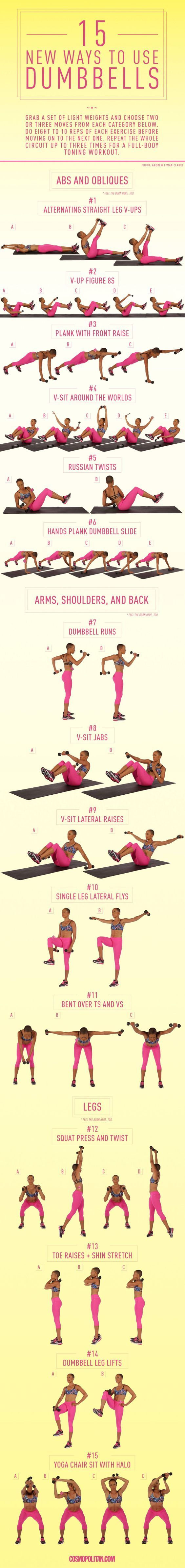 Flat Belly Workout Plan At Home To Tighten & Tone (Download PDF) #dumbbellexercises