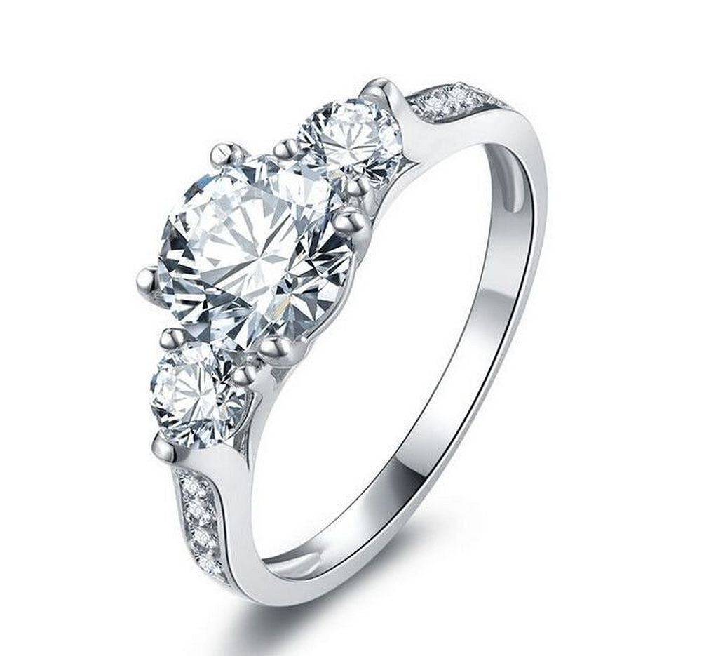 awesome and beautiful three diamonds ring three diamond ring