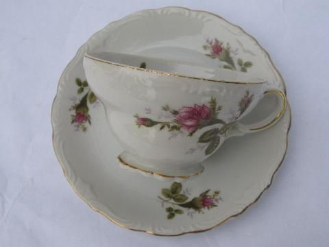 Old China Patterns old moss rose pattern dishes | vintage japan china cups & saucers