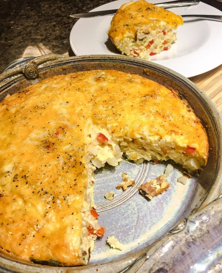 Cheesy Bacon Frittata