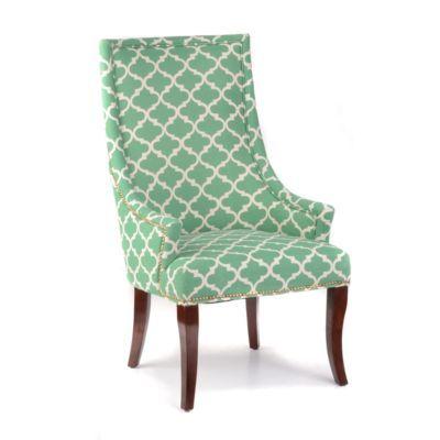 Green Quatrefoil Accent Chair Accent Chairs Green Accent Chair