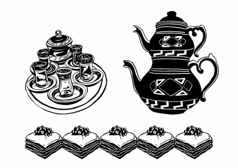 <p>In our design, we wanted to bring back a stronger sense of hospitality, in particular playing on the gesture of the offering of tea at Real Charcoal, free of charge, to any visitor whether they are eating in or out.</p>