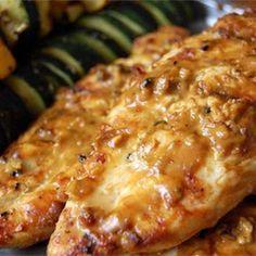 Grilled Peanut Chicken @keyingredient #peanutbutter #chicken