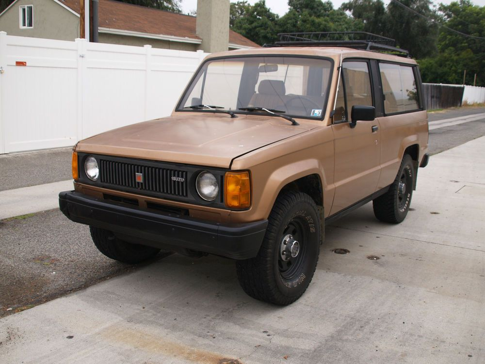 1986 Isuzu Trooper Dlx Turbo Diesel 4x4 Manual Very Rare Turbo