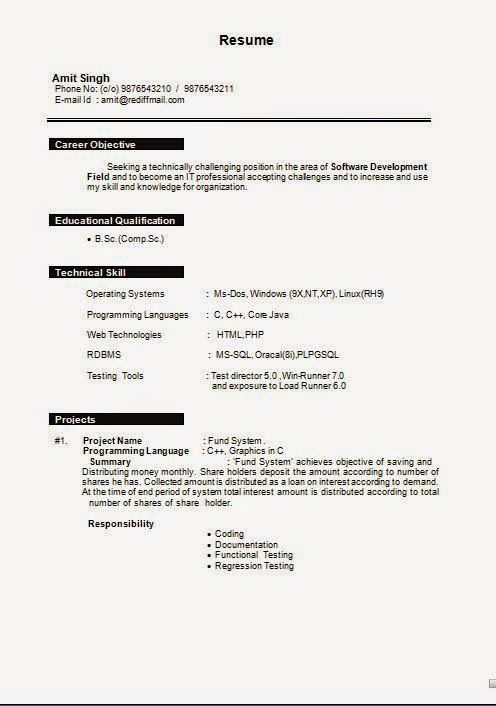 How To Make Resume Sample Resume Sample Template Example Of