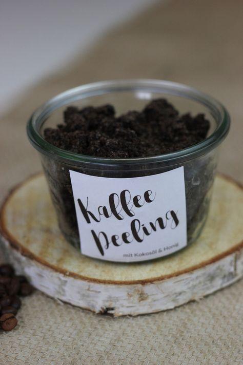 Kaffeepeeling mit Kokosöl und Honig selbst machen - The inspiring life #homemadeskincare