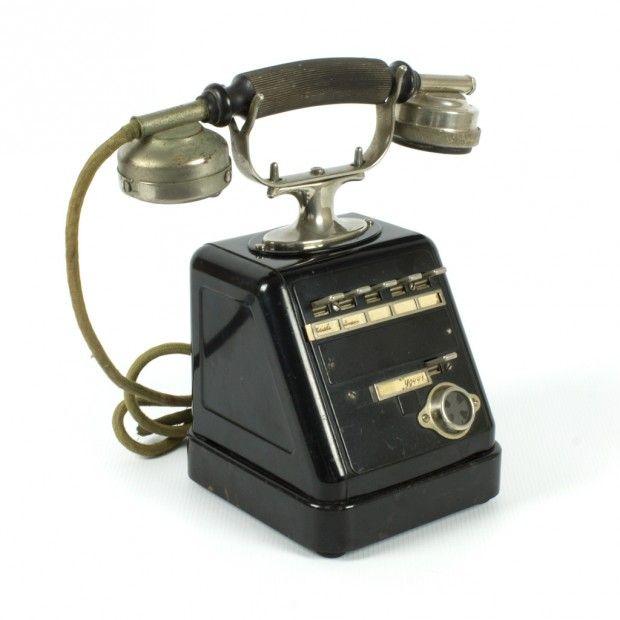 la Bodega Antiques. Rare Antique German Siemens & Halske desk Telephone Model ZBSA 24 central phone.
