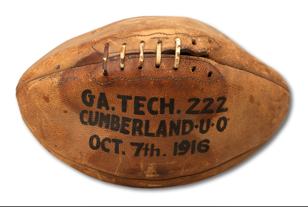 OCTOBER 7, 1916 TECH (COACHED BY JOHN HEISMAN) VS