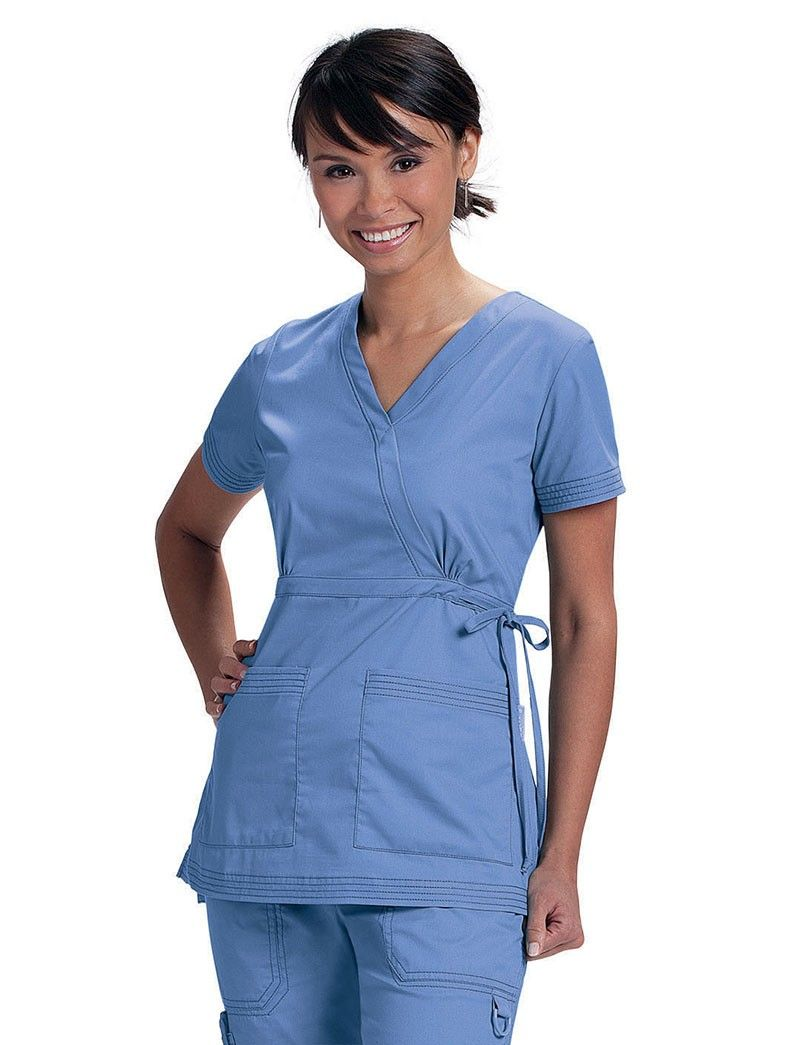 Katelyn Scrub Top By Koi Pictured In True Ceil Light