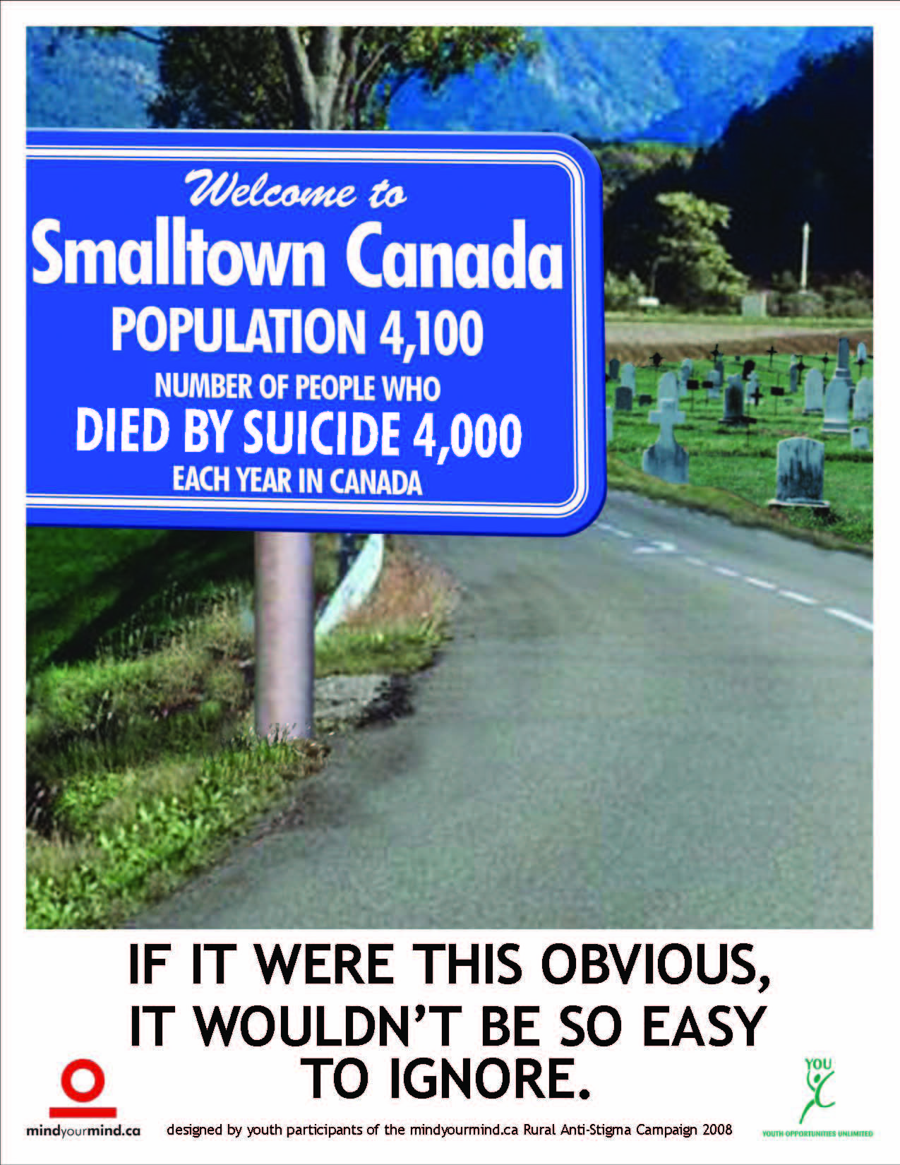 Smalltown Canada Suicide Stats Posters Postcards And Print