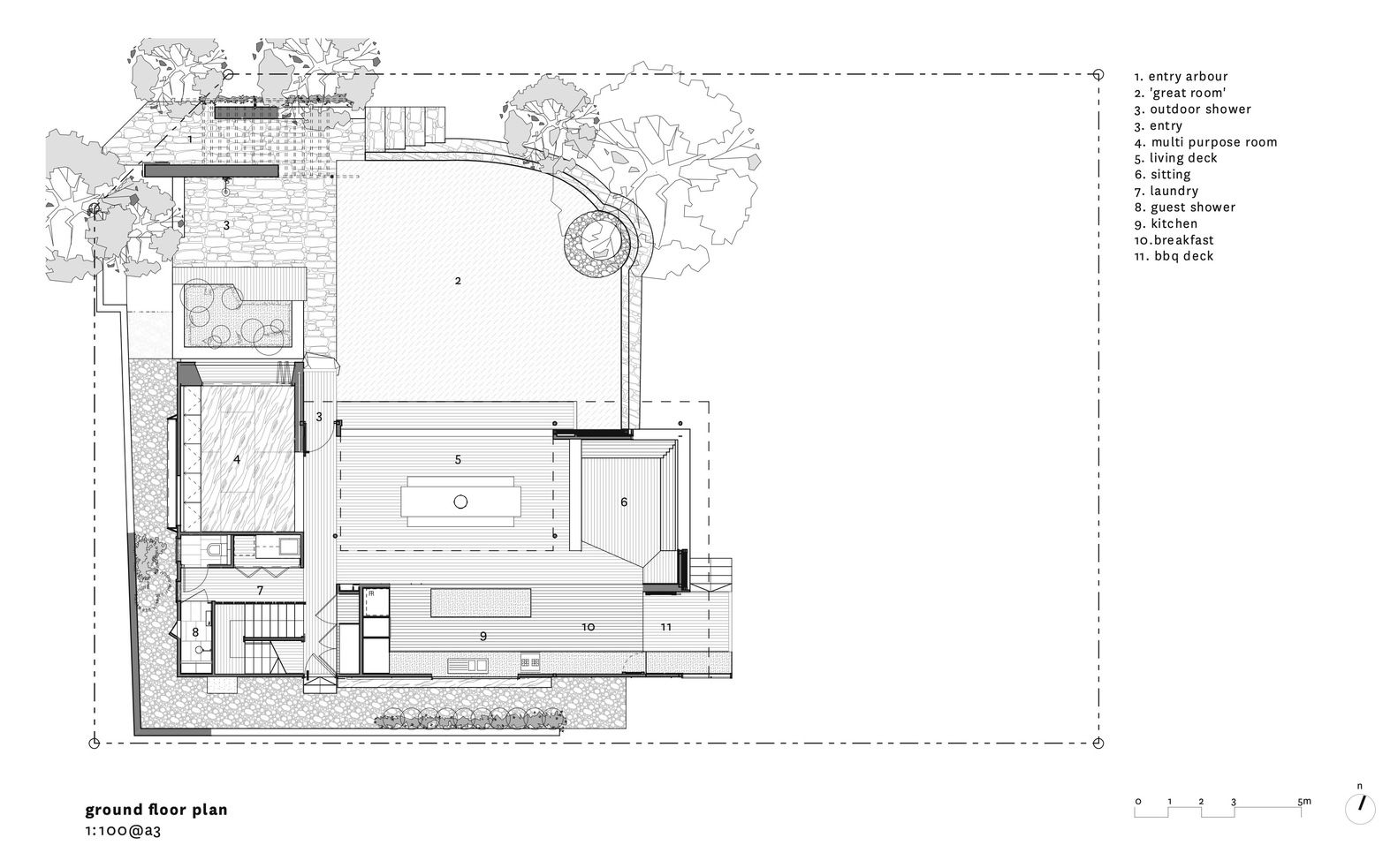 Gallery Of Corymbia House Paul Butterworth Architect 16 Architect Ground Floor Plan Butterworth