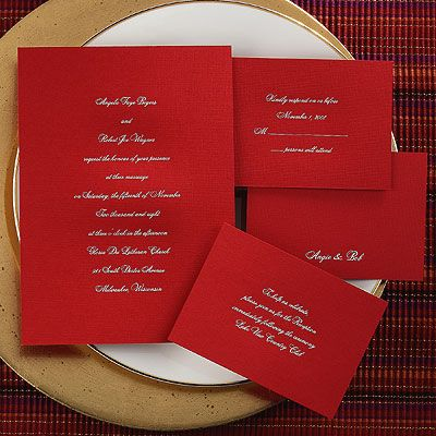 Red wedding invitations show your bold nature Red wedding - best of wedding invitation card sample design