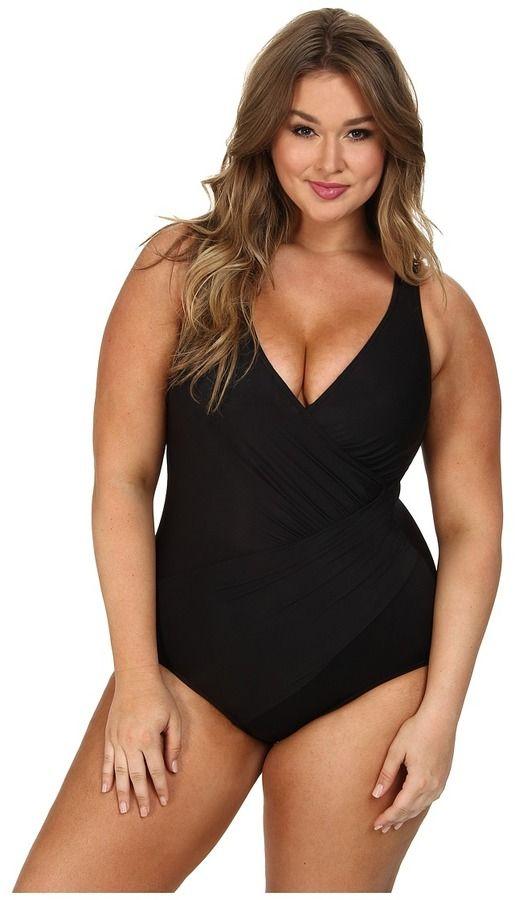28754ff9e0 Miraclesuit Plus Size Solid Oceanus Swimsuit Swimwear Sale