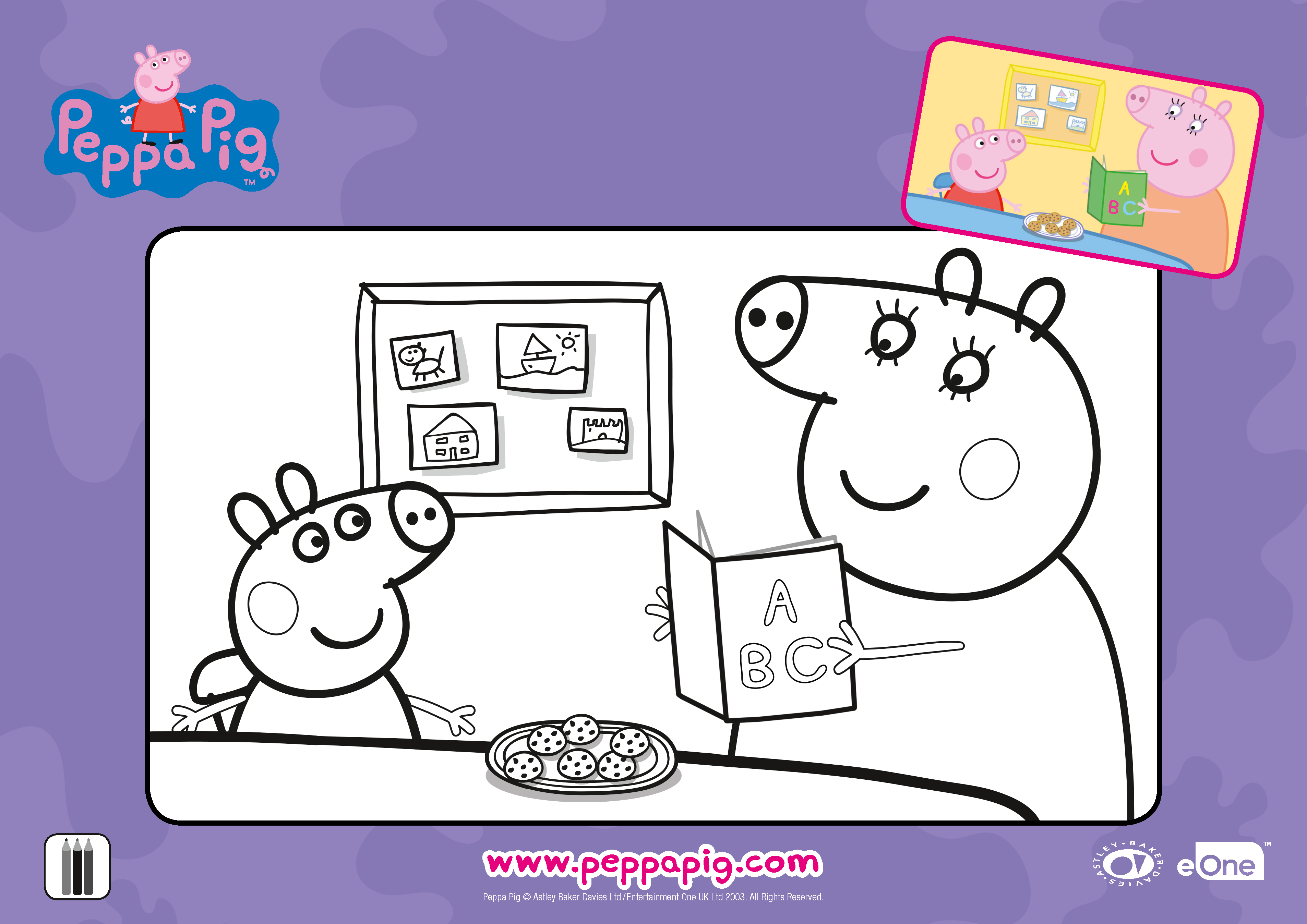 Activities Mothers day coloring sheets, Peppa pig, Peppa