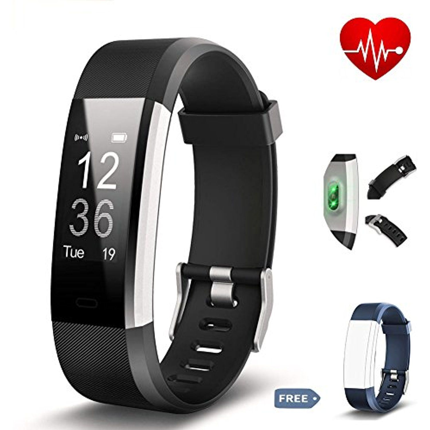 Torntisc Fitness Tracker Bluetooth Heart Rate Monitor