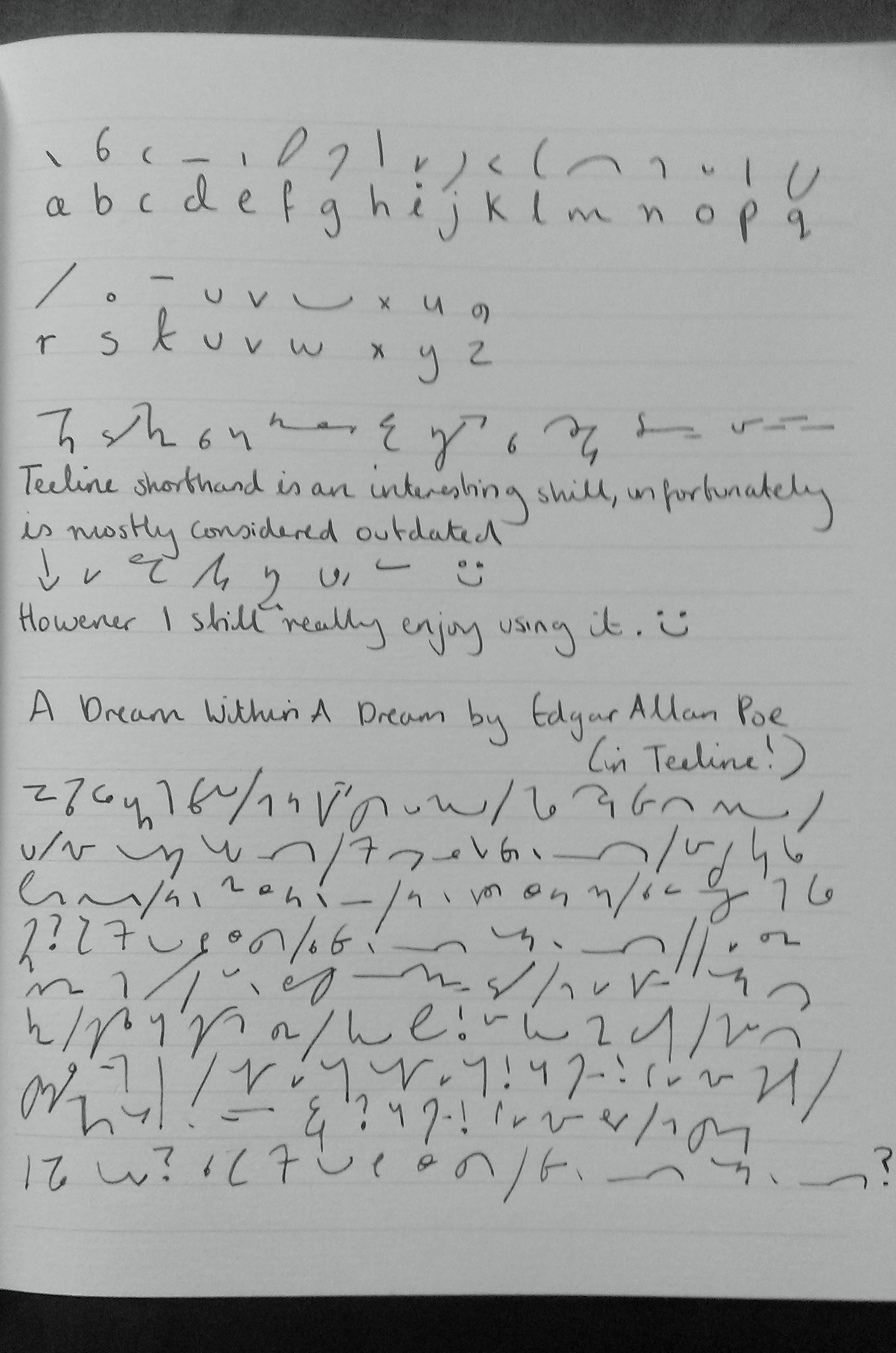 Teeline Shorthand My Top Speed Is 100wpm Back In The Day