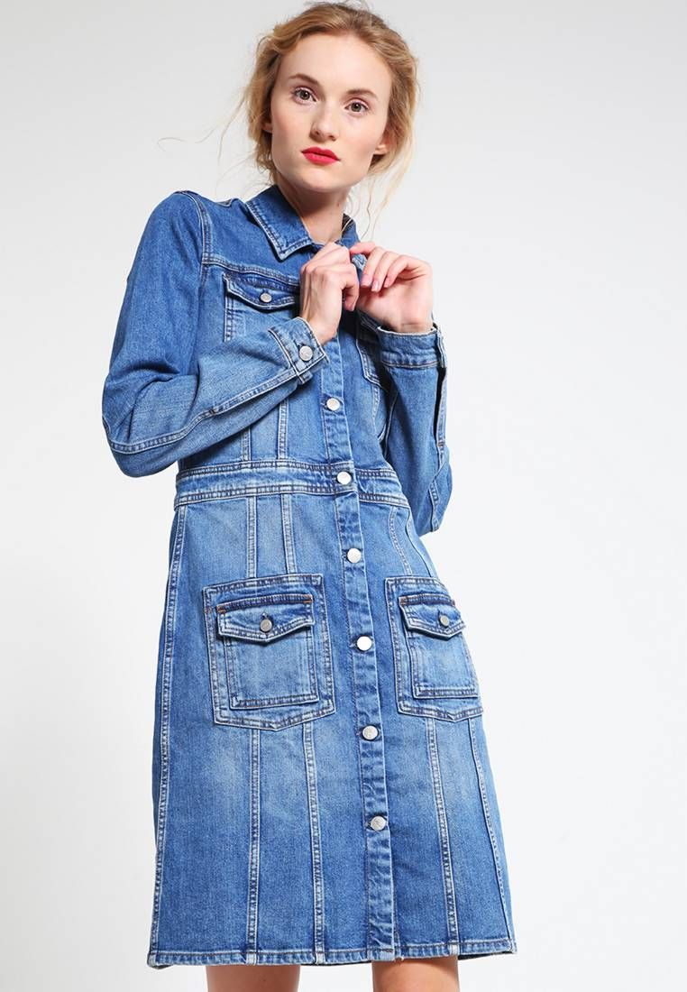 Pepe Jeans. LOUISE ARCHIVE COLLECTION - Vestido vaquero - denim. Largo de  la prenda 2f21458d90b