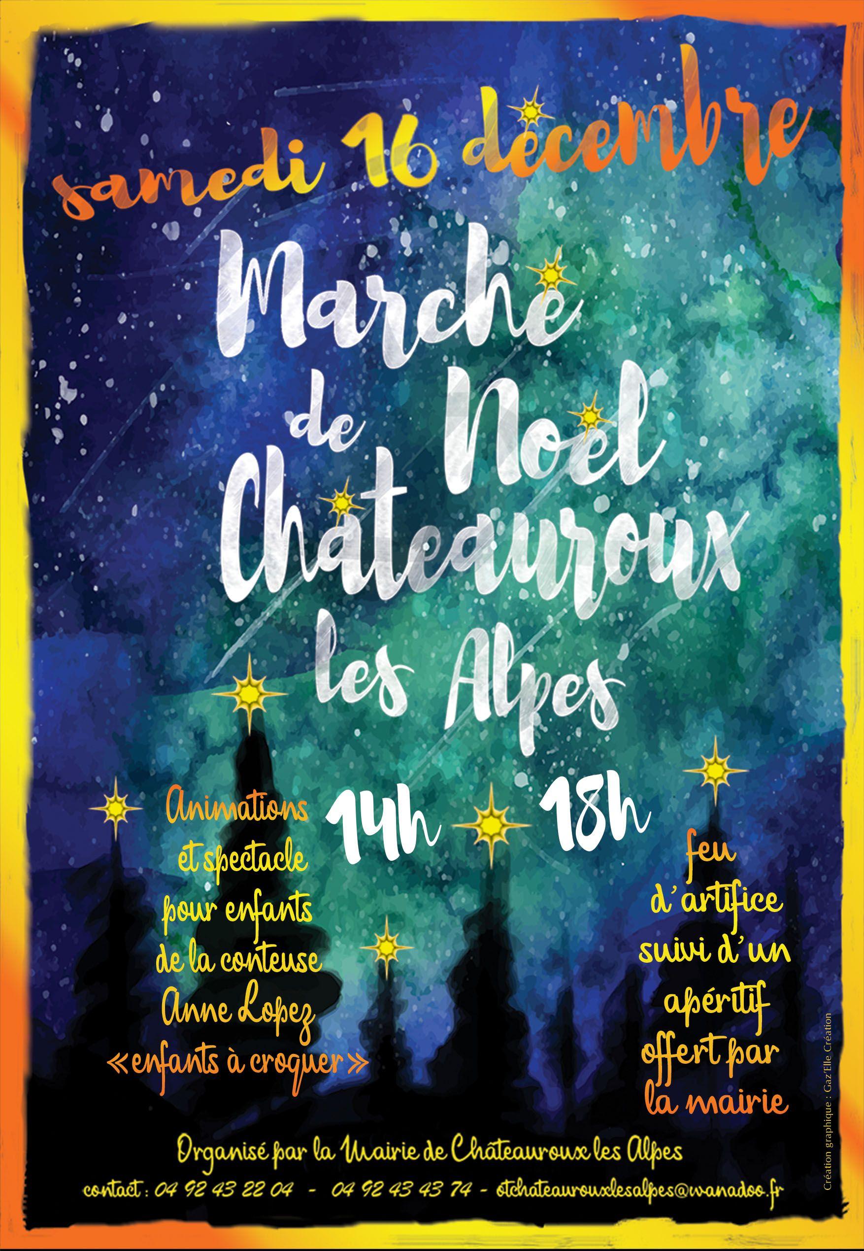 Création de l'affiche du marché de Noël de Châteauroux-les-Alpes