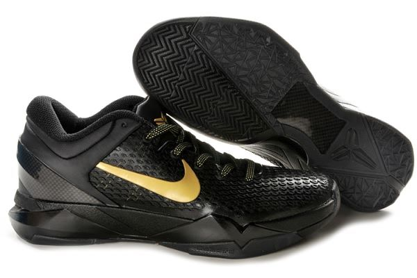 Nike Zoom Kobe VII System ELITE Basketball Shoes Kobe bryant Shoes  Black Gold ba46d32a33
