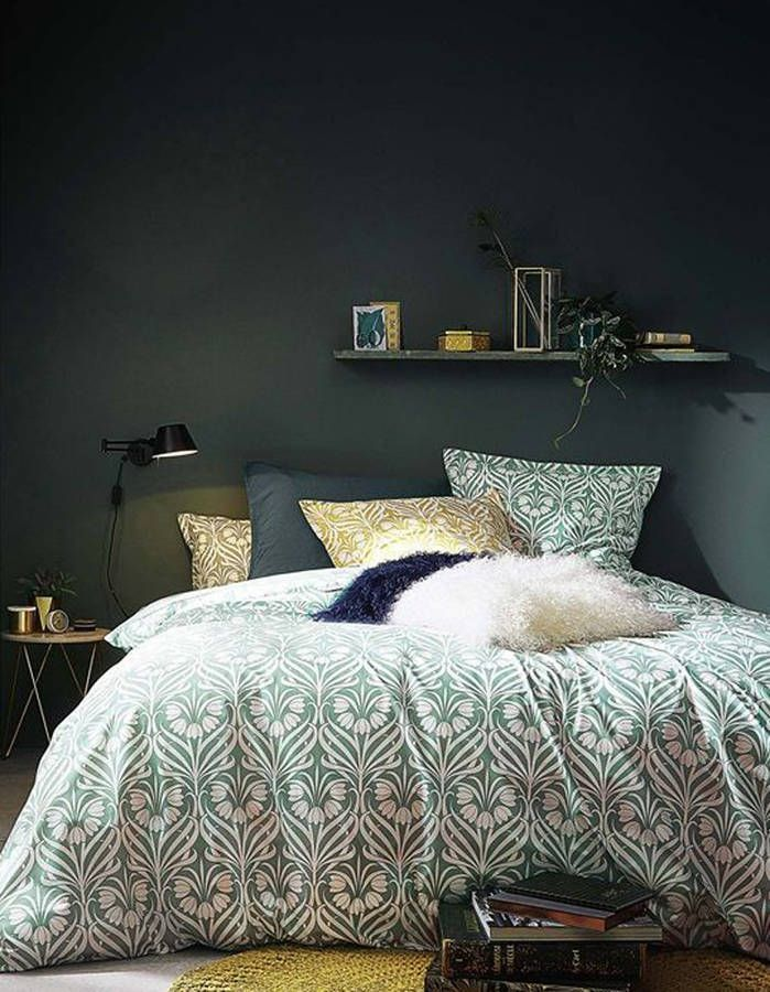 chambre verte les vertus d 39 une chambre verte elle d coration tjusigt pinterest sovrum. Black Bedroom Furniture Sets. Home Design Ideas