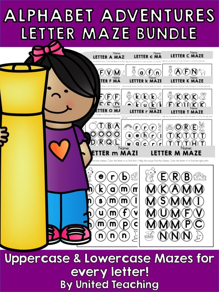 Children follow a path by coloring the circles that contain the relevant letter. This activity aids in letter and letter sound recognition and is ideal for children in preschool / kindergarten.