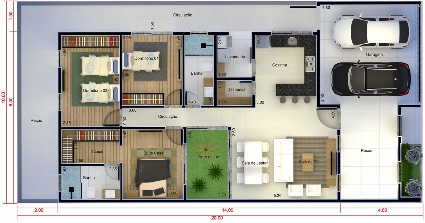 Resultado de imagen para suite e closet small house for Plantas de casas tipo 3 modernas