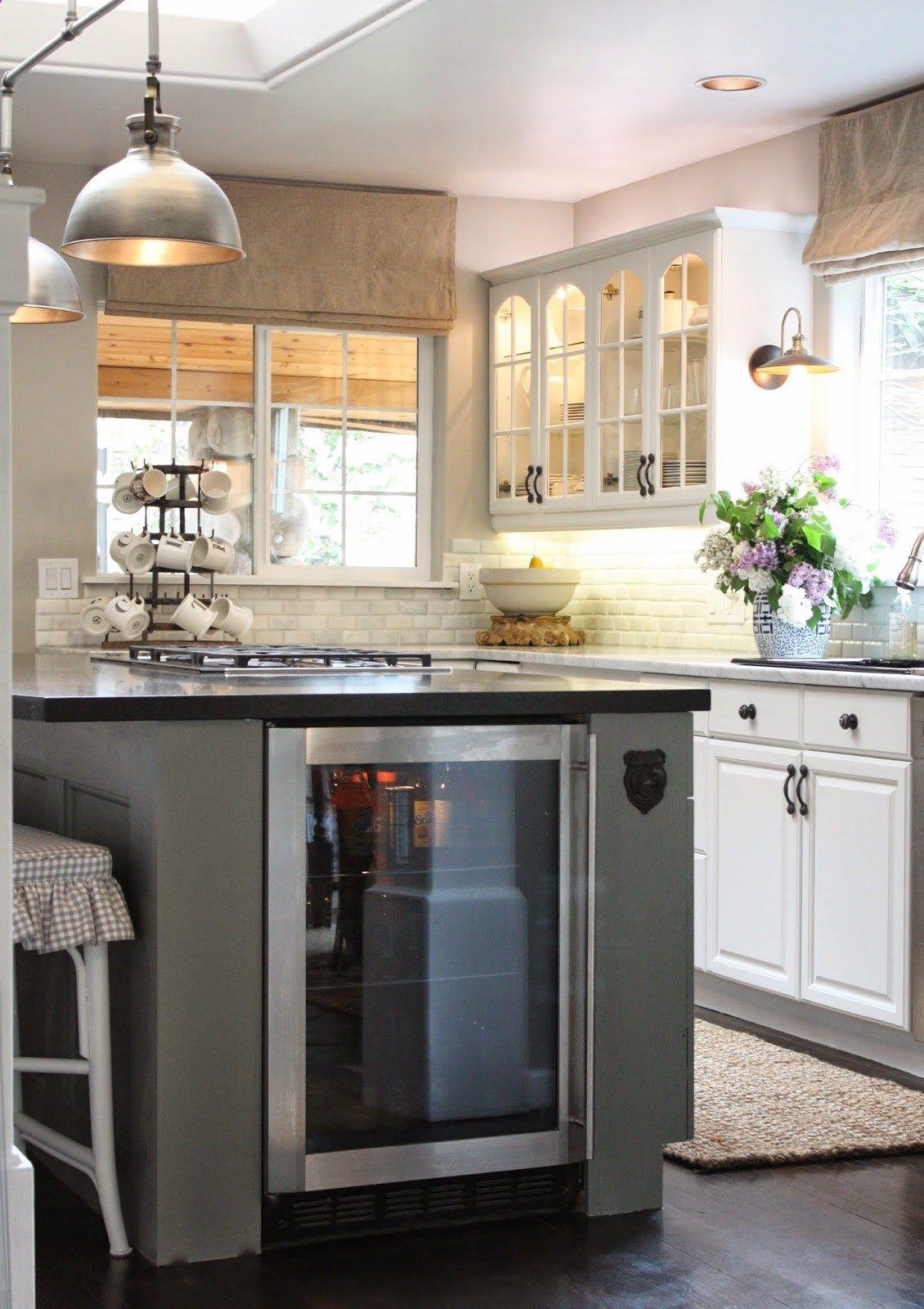 Wine Fridge   Top 10 Favorite Modern Farmhouse Blogger Home Tours | Blesser  House